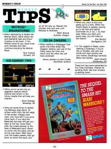 Nintendo Fun Club News | Feb-Mar 1988 Member Tips