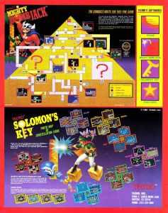 Nintendo Fun Club News   Feb-Mar 1988 Solomons Key Mighty Bomb Jack Ads