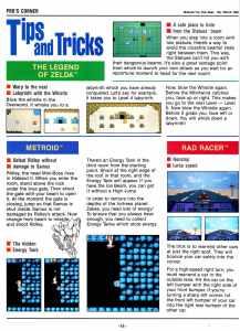 Nintendo Fun Club News | Feb-Mar 1988 Tips Tricks