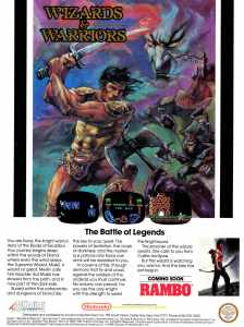 Nintendo Fun Club News | Feb-Mar 1988 Wizards Warriors Ad