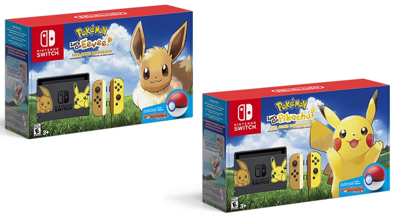 Nintendo Switch Pikachu Eevee Editions Releasing November 16