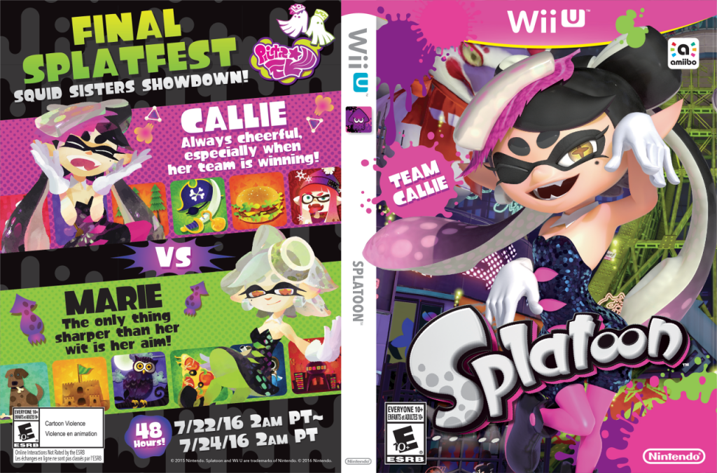 Nintendo Offering Alternate Squid Sisters Box Art