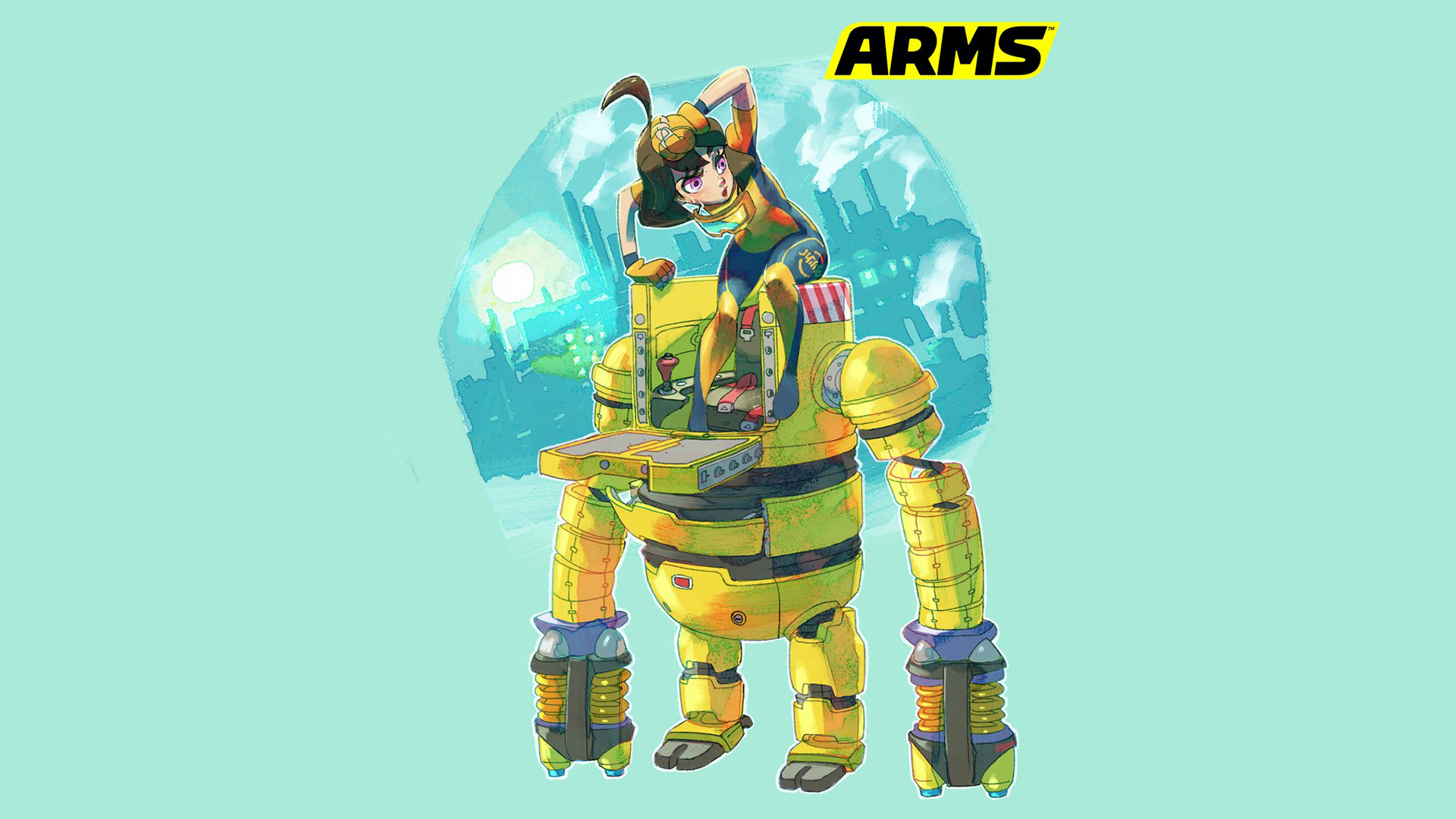 Splatoon Wallpaper Girls Nintendo Details The Backstory Of Arms Mechanica