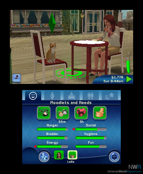 Sims 3 Ds : Review, Nintendo, World, Report