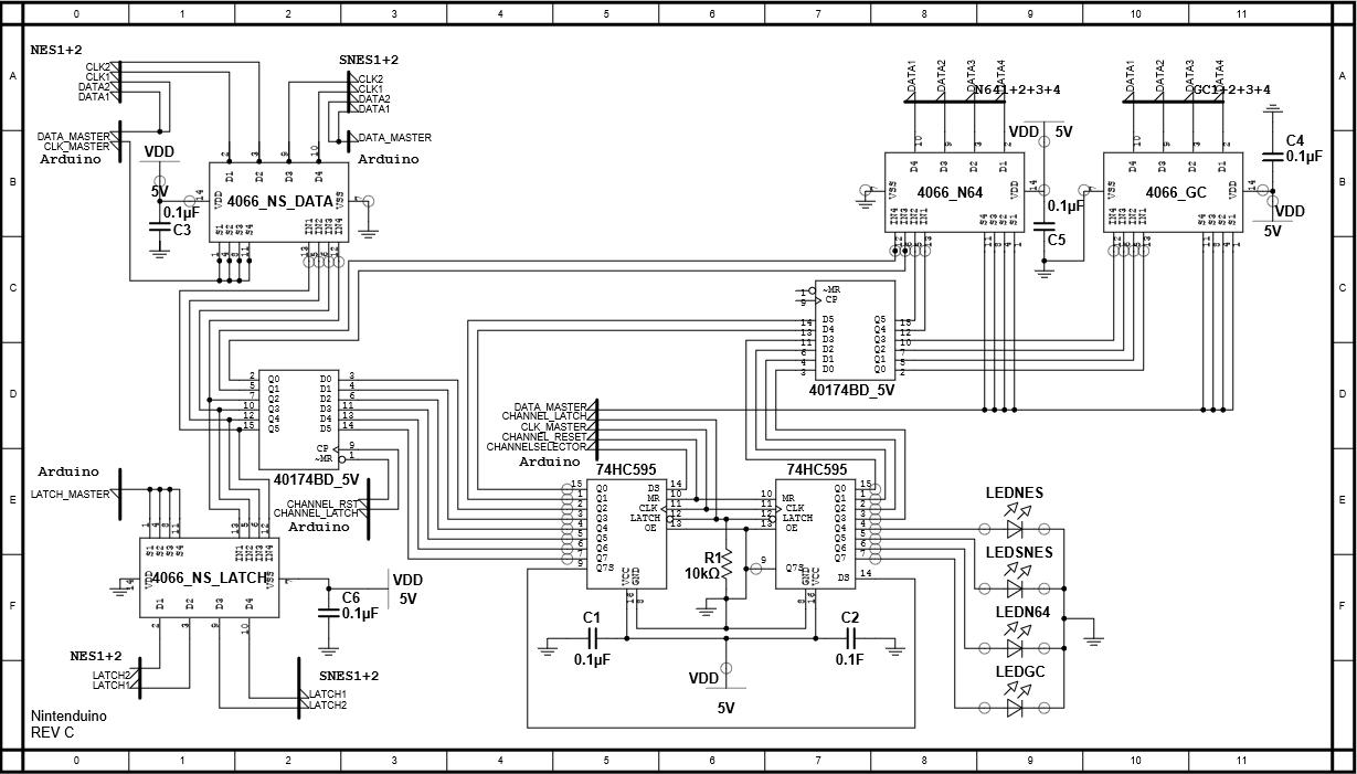 Nintendo Nes Controller Wiring Diagram Get Free Image