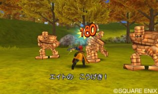 Fighting Rocks - Dragon Quest VIII 3DS Screenshot