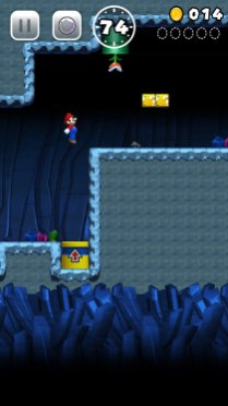 Super Mario Run Screenshots Jumping Up High
