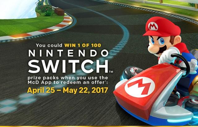 Win 1 of 100 Nintendo Switch + Mario Kart 8 Deluxe