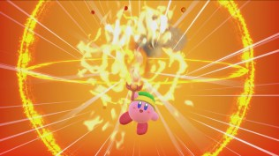 Fire Sword Kirby Power-Up