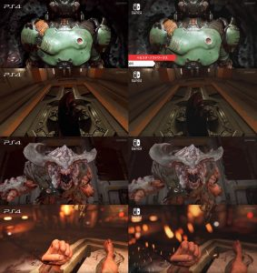 graphics comparison Doom Switch & PS4