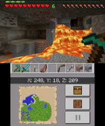 In cave Minecraft 3DS