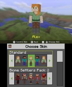 Pick a Skin Minecraft 3DS