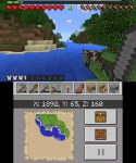 Dual Screens in Minecraft 3DS