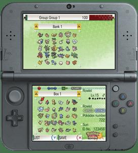 Pokemon Bank on Nintendo 3DS