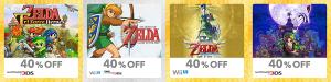 Discounted Zelda Games eShop