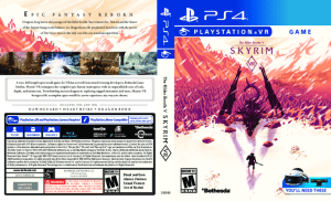 Skyrim PlayStation VR Alternate Box Art Cover PS4