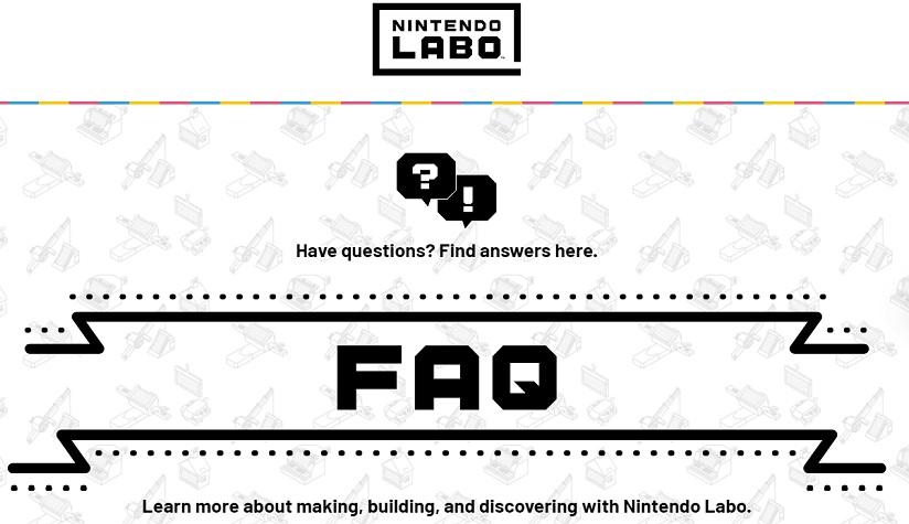 Nintendo Labo FAQ