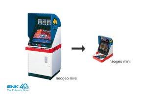 Compare SNK Arcade Unit to NEO GEO Mini