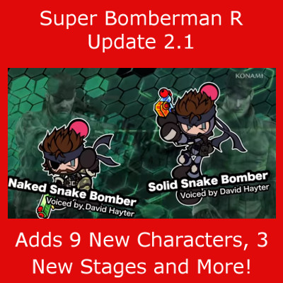 Super Bomberman R Update 2.1 Adds Characters, Stages and More