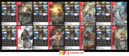 Preview of each Octopath Traveler Box Art for My Nintendo Members