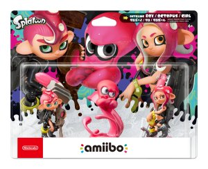 amiibo Octoling 3-Pack Preview, Octoling Boy & Girl and Octopus