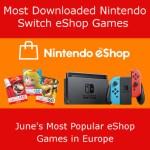 Europe top eShop downloads June 2018