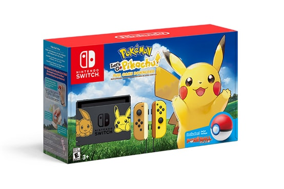 Pokemon Lets Go Pikachu Switch bundle