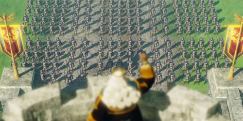 Hyrule army in Hyrule Warriors Age of Calamity