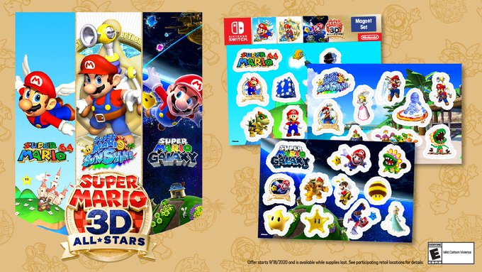 Mario Magnets - Super Mario 3D All-Stars Preorder