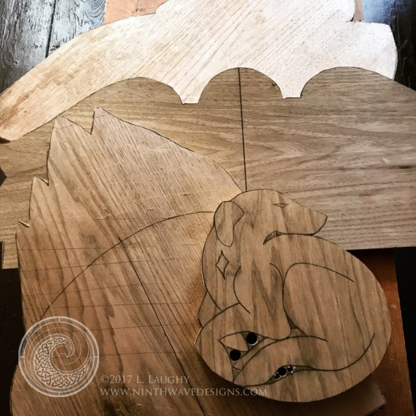 Butternut boards and slabs are cut out for several carving projects.