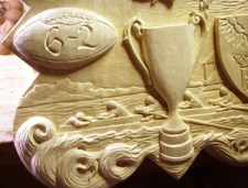 Detail of the finished carving.