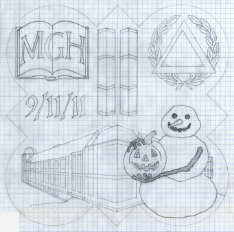 Design drawing for the 2012 Form plaque.