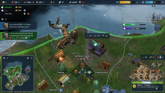 Northgard - Switch strategy game Vikings