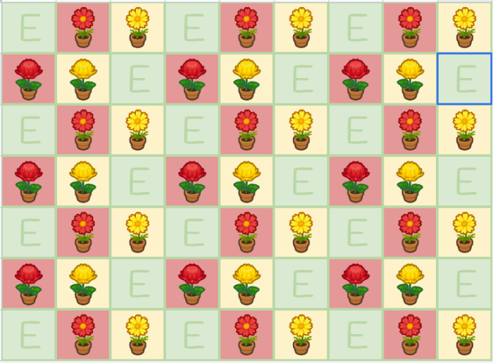 hybrid flower pattern animal crossing flowers chart