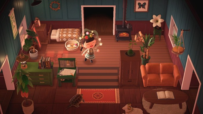 Animal Crossing wooden deck