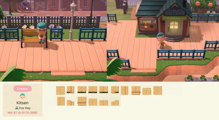 Animal Crossing deck pattern