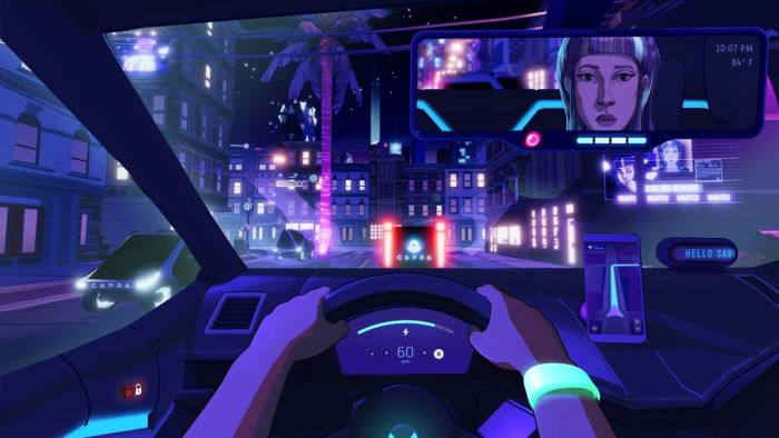 Neo Cab Switch Cyberpunk game