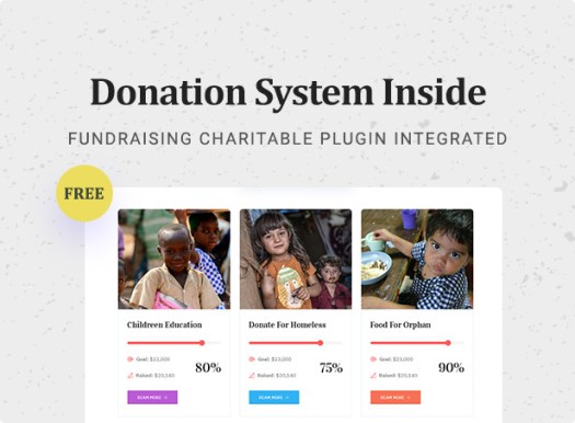 Nusafe | Responsive WordPress Theme for Donation & Charity - 7