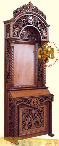 Hand carved Wooden Icon Stand A Ecclesiastical Icon