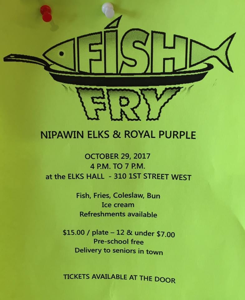 Fish Fry - Nipawin Elks & Royal Purple