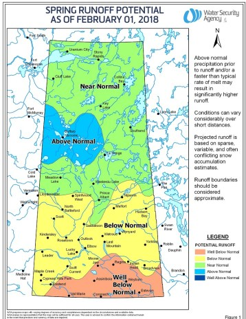 Spring Run off potential Feb 2018 - Saskatchewan - Water Security Agency