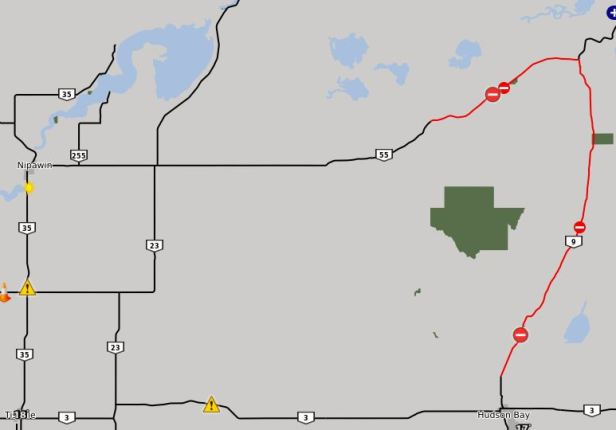 Highway 55 and Highway 9 Road Closures July 5th 2018