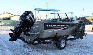 2009 Tracker Targa 175 boat with a 115 Mercury Optimax motor