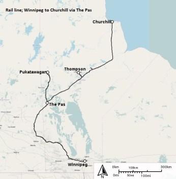 Winnipeg to Churchill rail line