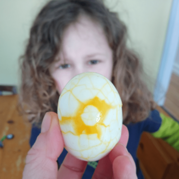 Turmeric egg to eat