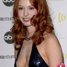 Alicia Witt side boobs and amazing cleavage