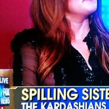 Khloe Kardashian Nipple Slip on Fox & Friends 07/06/11