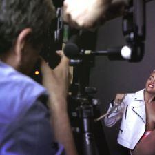 Miley Cyrus - V magazine May 2013 behind the scenes nipple slip