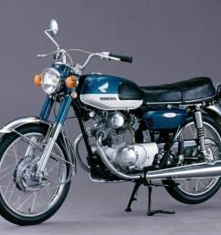 1974 erschien die honda cb 125 k b6 mit neuem design und mechan scheibenbremse vorn quelle honda motor co  [ 1200 x 827 Pixel ]