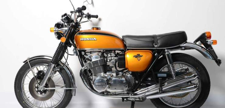 Honda CB 750 Four in Candy Gold